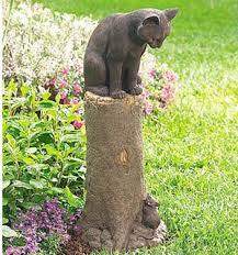 garden sculpture. Cat And Mouse Garden Sculpture