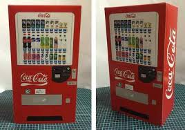 Coca Cola Vending Machine Mesmerizing PAPERMAU CocaCola Vending Machine Paper Model In 48482 Scale By