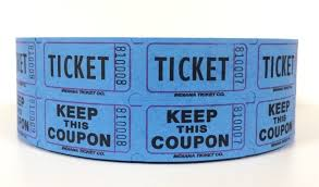com blue double raffle ticket roll office products