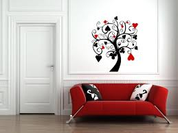 tree amazing black and red wall art