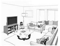 Room Living Room Drawing .