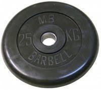 <b>Диск обрезиненный MB</b> Barbell 25кг, чёрный в г. Москва   Купить ...