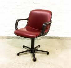 red leather office chair. Burgundy Red Leather Executive Chair From Comforto, 1980s Office I