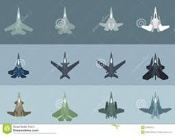 Futuristic Fighter Jet Designs Modern Futuristic Jet Fighters Stock Vector Illustration