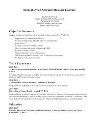 Medical Records Resume Medical Records Job Duties Clerk Description
