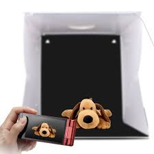Led Dog Box Lights 2 Led Folding Lightbox 40 40 Portable Photography Photo Studio Softbox Adjustable Brightness Light Box For Dslr Camera