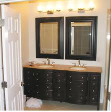 classic vanity wall mirror with black wooden frame astonishing wooden framed bathroom mirrors bathroom