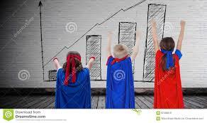 Blank Wall Chart Superhero Kids With Blank Room Background With Bar Chart