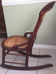 antique wooden cane seat and back rocking chair rocker for in ocala fl offerup