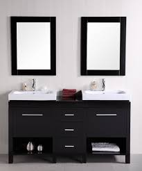 60 inch black bathroom vanity. home \u003e 60 inch double sink bathroom vanity with flip down shelves · loading zoom black i