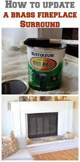 how to update a fireplace surround brass fireplace surrounds spray painting and sprays