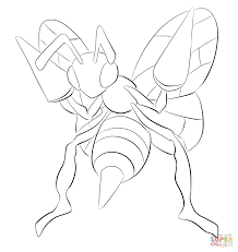 Small Picture Beedrill coloring page Free Printable Coloring Pages