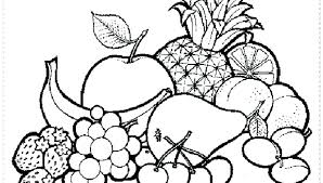 Heavenly Coloring Pages Of Fruits Printable For Humorous Fruit And