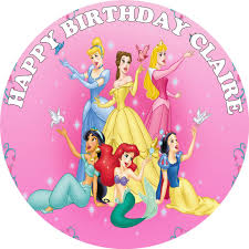 New Disney Princess Edible Cake Topper