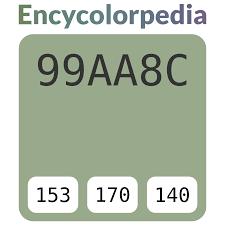 Amc Willow Green 99aa8c Hex Color Code Schemes Paints