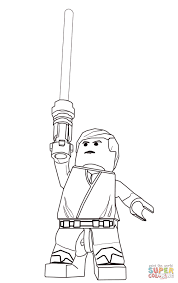 Small Picture Lego Star Wars Luke Skywalker coloring page Free Printable
