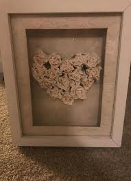 wall arts shadow box wall art flower heart for in 3d paper