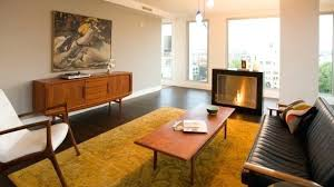 mid century rug cowhide for living room decor