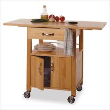 contemporary kitchen cart with drop leaves free
