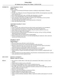 Pharmacy Tech Resume Template Pharmacy Tech Resume Samples Velvet Jobs