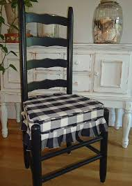 mr and mrs vintage ladder back chairs black and cream buffalo square check ulphostered seats breakfast nook delight on 200 00