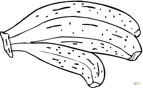 Small Picture Hand of 3 Bananas coloring page Free Printable Coloring Pages