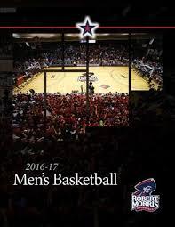 2016 17 Rmu Mens Basketball Fact Book By Robert Morris