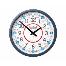 easyread classroom time teaching wall clock 24 hour 35cm clocks office accessories furniture storage