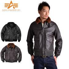 alpha alpha g 1 leather flight jacket