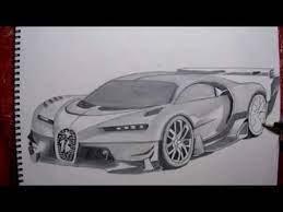 Ya el bugatti es muy parecido a la realidad. Drawing The Bugatti Chiron Gran Turismo Dibujando El Bugatti Chiron Gran Bugatti Autos Turismo