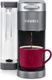 I'm so smitten with the ability to brew any flavor of coffee i want at any i was told that using the small (6 oz) or medium (8 oz) setting is best for the best brew over ice taste experience. Amazon Com Keurig K Supreme Coffee Maker Single Serve K Cup Pod Coffee Brewer With Multistream Technology 66 Oz Dual Position Reservoir And Customizable Settings Gray Kitchen Dining