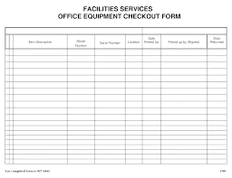 Equipment Checkout Form Template Excel Key Checkout Form Template