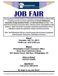 fresh start outreach ministry job fair department of public job fair department of public welfare philadelphia county assistance office