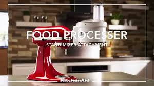 KitchenAid® Stand Mixer Attachment   Food Processor   YouTube