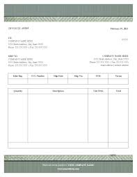 Free Invoice Templates Printable Blank Invoice Form Template