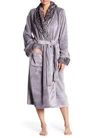 Shimera Faux Fur Trim Plush Robe Hautelook