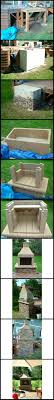 before during after images of a customer s diy outdoor fireplace kit assembly