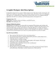 Graphic Design Job Description Resume Responsibilities