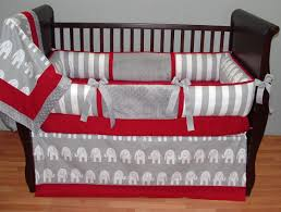 image of hunter elephant crib bedding
