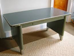 vintage steel furniture. Solid Steel Panel Sides, With Contrast Brushed Feet, Laminate Table Top For Easy Writing Or Drawing. Desk Has A Central Clean-running Vintage Furniture