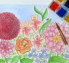 Small Picture Techniques for Painting Flowers in Mixed Media