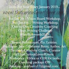 Thatcuriousloveofgreen New Year Workshops For 2019 Writing