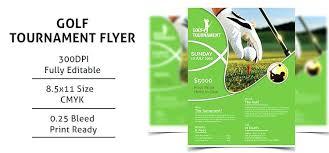 Golf Tournament Vintage Flyer Template Brochure Free Word – Imaginarapp
