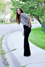 oversized pants into bell bottoms tutorial