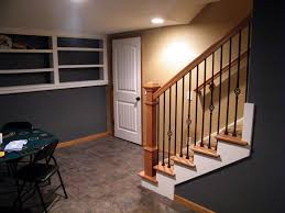 basement remodeling kansas city. Wood Stairway, Tile Floor, Custom Shelves Basement Remodeling Kansas City G