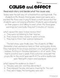 Cause and Effect Short Stories / Passages - Differentiated, Print ...