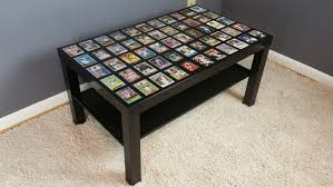 Coffee End Tables Custom Sports Card Display Coffee Table End Table With High