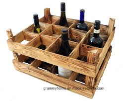 china burning finish wine crate box 12 bottle wooden wood wine rack holder china personalised wooden beer crate vintage wooden box