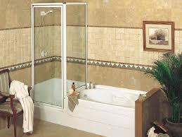 beautiful corner tub shower