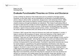 evaluate functionalist theories of crime and deviance a level document image preview